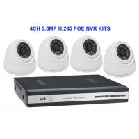 Buy cheap 4CH 5.0MP H.265 POE NVR KITS With Dome IP IR Camera from wholesalers