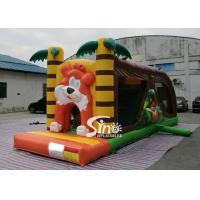 Buy cheap Cartoon kids Bouncy Castle Inflatable jump house with slide For kids Inflatable Game product
