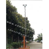 China Vehicle mounted pneumatic telescoping mast for lighting telescopic light tower on sale