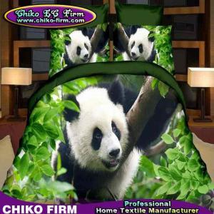 パンダの設計100%のポリエステルは3D寝具の一定の羽毛布団カバー セットを印刷しました