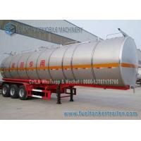 Buy cheap SUS304 2B Chemical Oil Tank Trailer 3 Axle 39000 L Milk Tanker Trailer product