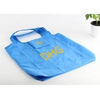 Buy cheap RPET Foldable Grocery Tote Bags With Printing , Blue Custom Shopping Bags product