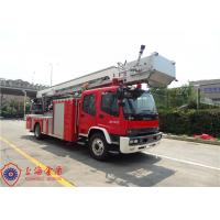 Buy cheap Four Door Structure Fire Engine Ladder Truck ISUZU Chassis With 200L Fuel Tank product