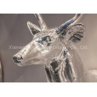 Buy cheap Wall Mounting Shop Display Christmas Decorations Fiberglass Deer Head Silver Color product