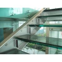 Buy cheap Clear frameless safety laminated glass for stair railing product