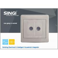 Buy cheap load break switch champagne 2Gang TV wall switches and sockets from wholesalers