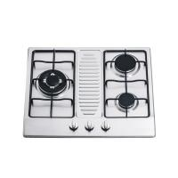 Buy cheap Kitchen Stainless Steel 3 Ring Gas Hob / Gas Cooktop Support NG / LPG 590*510mm product