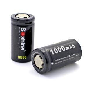 Buy cheap Nouvelle 18350 batterie rechargeable de la batterie 3.7V 1000mAh d'IMR de Soshine 18350 pour la cigarette d'e product