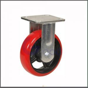 Fábrica de alta qualidade roda vermelha fornecida do rodízio do giro do poliuretano da costa A do material 95 do poliuretano
