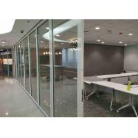 Buy cheap Office Frameless Glass Wall , Aluminum Interior Glass Partitions Sliding product