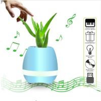 Buy cheap Flowerpot Night Lamp Small Wireless Speakers Smart Piano Touch Music Singing Plant Pot product