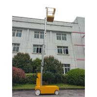 Buy cheap Electric Aluminum Alloy Vertical Mast Lift Single Mast Aerial Work Platform Man from wholesalers