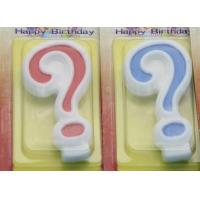 !Question Mark !White Egde Question Mark Shape Candles  with 2 Colors Filling-in for sale