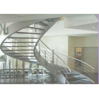 Buy cheap Modern customized wooden curved commerical marble stairs design for sale product