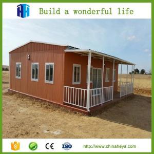 casa prefabricada barata de lujo del bajo costo que los equipos modernos de una casa movible del marco diseñan para Kenia