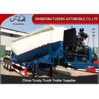 Buy cheap V Shape Bulk Cement Tanker Trailer With Diesel Engine FUWA / BPW Axle from wholesalers