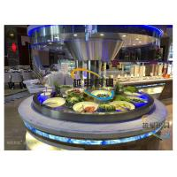 Buy cheap Blue Led Display Restaurant Buffet Counter / Commercial Buffet Serving Table from wholesalers