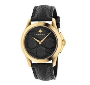China Gucci G-Timeless Black And Gold Watch YA1264034 Men Gucci Watch on sale