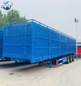 Buy cheap 3 Axle Side wall van type semi truck trailer for sale product