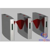 Anti tail Security RFID Reader Pedestrian Flap Barrier , electronic turnstiles for Building Passage
