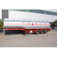 China Anti‐skid Oil Tank Truck Trailer Carbon Steel 40 To 60 Cbm With Mud Flaps on sale