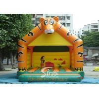 Buy cheap Lovely Blow Up Kids Inflatable Tiger Jumping Castles for kids Inflatable Bouncy Castle Fun product