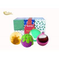 China Promotion Gift Girls Bath Bomb Set , Pretty Bath Bombs For Body Relaxing on sale