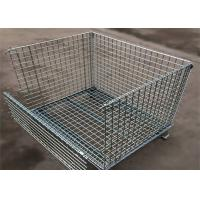 Buy cheap 4 Tiers Other Material Handling Equipment / Stainless Folding Steel Wire Container product