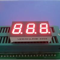 China Super Bright Red 3 Digit 7 Segment Led Display Common Cathode 0.40 Inch wholesale