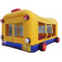 Buy cheap Kids Jumper Inflatable Bouncer Combo Bus Themed With Double Stitching product