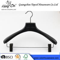 Buy cheap Ashtree Wooden Clothes Hanger With Gun Black Clips 40 * 4.0cm product