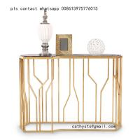 Buy cheap Customized Hairline Gold stainless steel table chair for restaurant metal from wholesalers