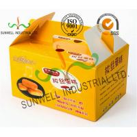 Buy cheap Custom Printed Foldable Cardboard Food Packaging Boxes For Cup Cake / Dessert Packing product