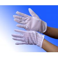Buy cheap white PVC dotted ESD anti static cleanroom gloves product