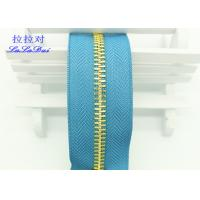 Buy cheap 26 Inch Open Ended Long Chain Zipper Bright Tape Golden Metal Teeth For Bag And Garments product
