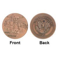 Buy cheap Army AH - 64 APACHE Plane Military Challenge Commemorative Coins  Gold Plated  Custom product