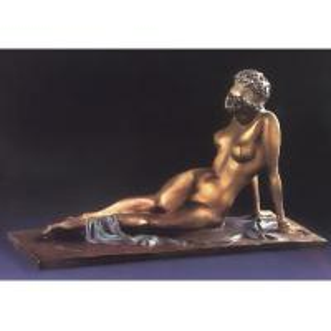China 西部の旧式な裸の女性の彫刻/青銅の置物 on sale