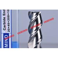 Buy cheap HRC50 End Mill Bits For Aluminum 3 Flute No Coating Grain Size 0.8 um Bright Surface product