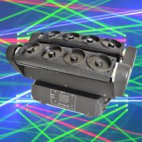 Buy cheap High Setting 8 Eyes RGB Laser Spider Beam Moving Head Stage Lights product