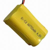 Buy cheap NiCd Rechargeable Battery Pack with 700mAh Capacity and 4.8V Voltage product
