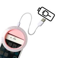 China IPhone / IPad Rechargeable Selfie Ring Light 30 LED With Bulid - In Battery on sale