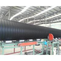 Buy cheap Large diameter high stiffness HDPE PE steel reinforced winding pipe machine extrusion line production for sale product