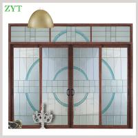 China Leaded glass Interior Aluminum sliding door on sale
