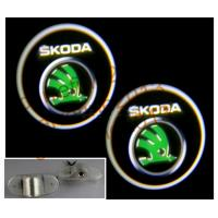 China 3D logo ghost shadow light for Skoda Superb octavia Fabia Octavia Roomster on sale