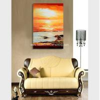 China Hand Painted Abstract Acrylic Painting Landscape Wall Art For Home Decor on sale