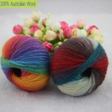 China 500g/lot luxury quality 100% wool yarns fancy iceland thick Hand knitting for yarn colorful knit yarn dye wool sweater k on sale