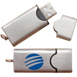 Buy cheap Memorias USB promocionales 8GB, logotipo de plata del metal USB de la aduana del palillo de memoria USB product