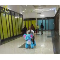 Buy cheap Hansel  coin operated plush animal electric scooter for baby and mother ride together product