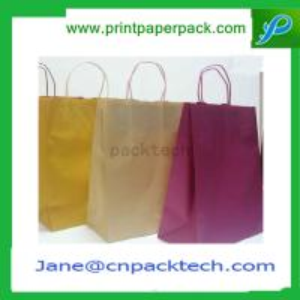 China Bespoke Printed Paper Bag Kraft Paper Bag Shopping Bag Garment Bag Carrier Bag on sale
