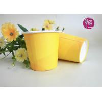 Buy cheap 2.5oz Promotion Single Wall Paper Cups , Yellow Disposable Paper Cups With Lids product